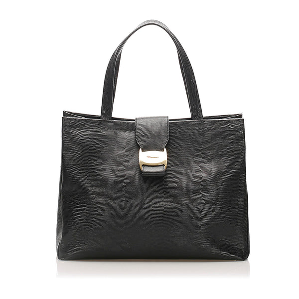 Salvatore Ferragamo Vara Leather Handbag (SHG-11892)