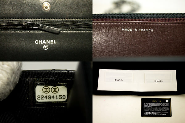 Chanel Black Caviar Leather Half Moon Wallet On Chain (SHB-10125)