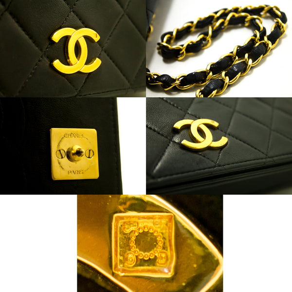 Chanel Black Quilted Caviar Leather Wallet On Chain (SHB-10016)