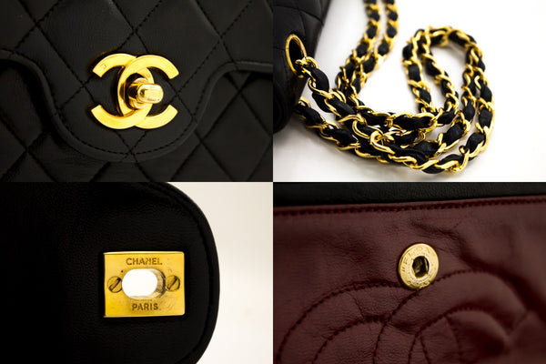 Chanel Black Quilted Caviar Classic Wallet On Chain WOC (SHB-10017)