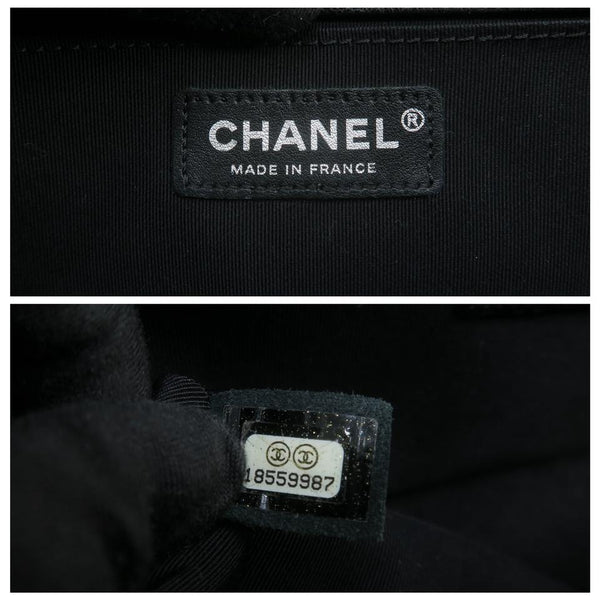 Chanel Boy Medium Black Calfskin Leather Shoulder Bag
