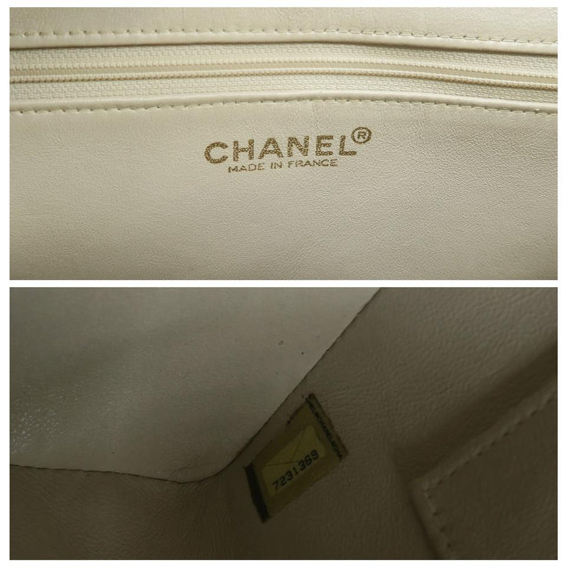 Chanel Medallion White Caviar Tote