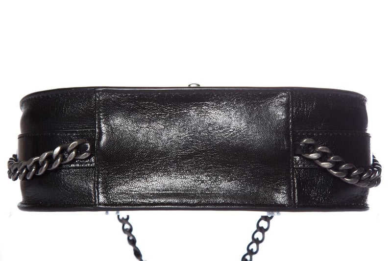 Chanel Messenger Quilted Black Leather Cross Body Bag