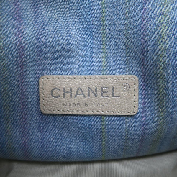 Chanel Top Handle Limited Edition Cc Light Wash Denim Classic Flap Shoulder Bag