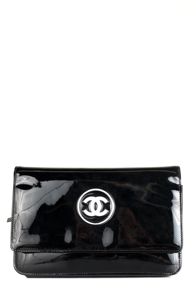 Chanel Wallet on Chain Black Patent Leather Cross Body Bag