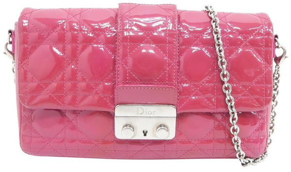 Dior Christian Cannage Indian-red Vernis Shoulder Bag