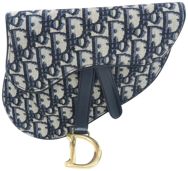 Dior Oblique Saddle Multicolor Canvas Cross Body Bag