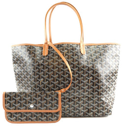 Goyard with Pochette St Saint Louis Pm Tote Work Goyardine Black Coated Canvas and Leather Shoulder Bag