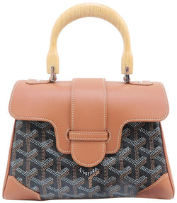 Goyard Saigon Mini Brown Calfskin Leather Satchel
