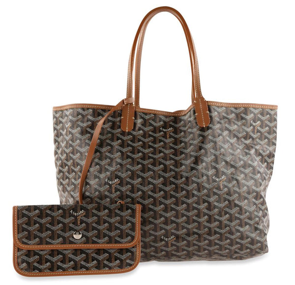 Goyard St. Louis Pm Brown Coated Canvas Tote