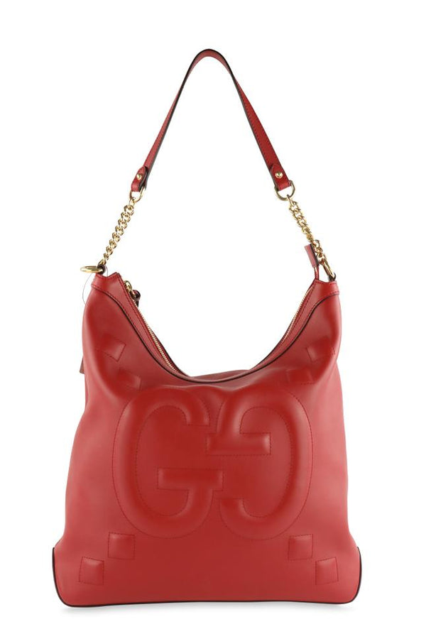 Gucci Apollo Red Leather Hobo Bag