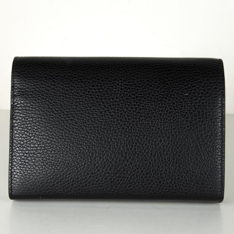 Gucci Chain Dionysus Mini Black Leather Cross Body Bag