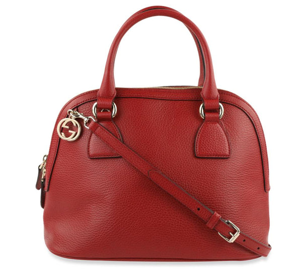 Gucci Dome Red Calfskin Satchel
