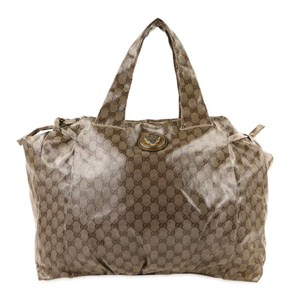 "Gucci Hysteria Large Brown Crystal ""Gg"" Logo Medium (Mm) Shoulder/ Hobo Bag"