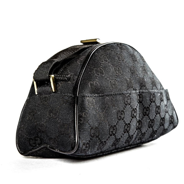 Gucci Pochette Black Canvas Clutch