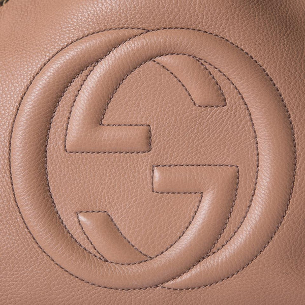 Gucci Soho Beige Leather Tote