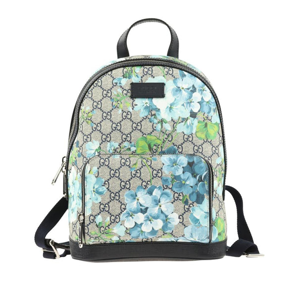 Gucci Unisex Bloom Gg Small Multicolor Coated Canvas Backpack