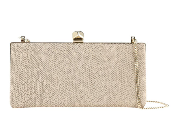 Jimmy Choo Evening Bag Celeste S Tan Leather Clutch