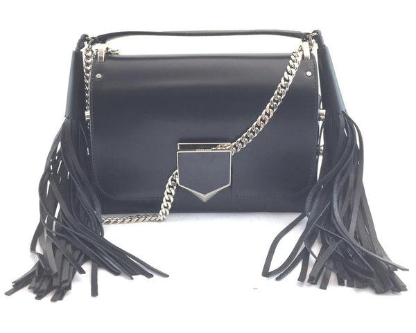 Jimmy Choo Lockett Petite Black Leather Cross Body Bag