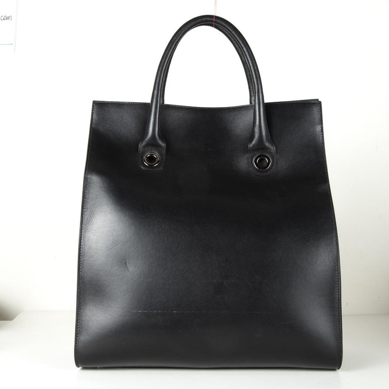 Jimmy Choo Rita Shopper Tote Black Leather Shoulder Bag