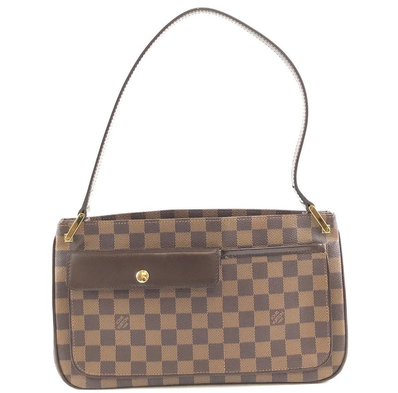 Louis Vuitton Rare Aubagne Brown Damier Ébène Canvas Shoulder Bag