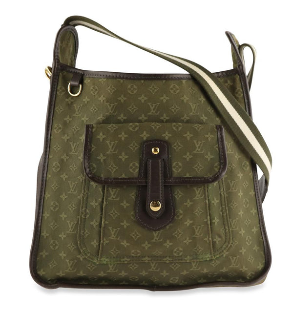 Louis Vuitton Besace Mary Kate Monogram Mini Lin Brown Cotton Canvas Cross Body Bag