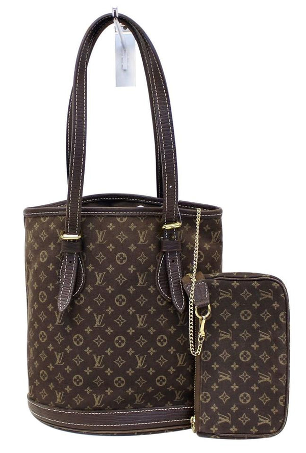 Louis Vuitton Bucket Monogram Mini Lin Pm Shoulder Bag