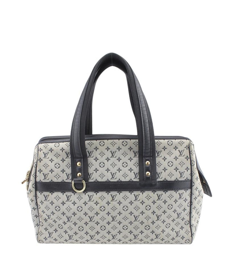 Louis Vuitton Josephine M92309 Mini Lin Bluexgrey Canvas Satchel