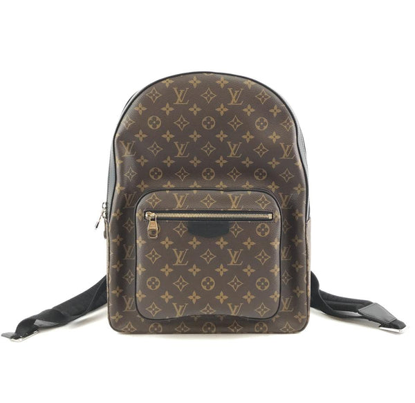 Louis Vuitton Josh Rare Large Brown Monogram Canvas and Calf Leather Backpack