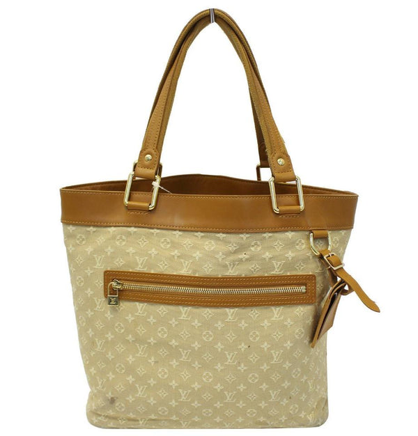 Louis Vuitton Lucille Mini Lin Gm Beige Monogram Tote