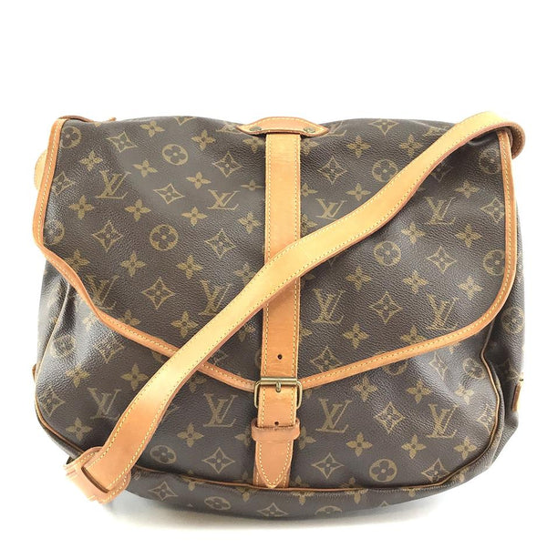 Louis Vuitton Messenger Saumur 35 Diaper Brown Monogram Canvas Cross Body Bag