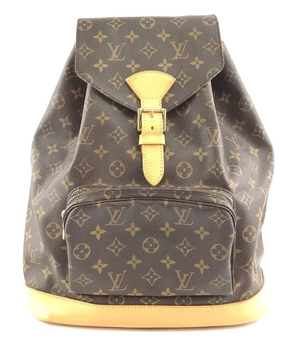 Louis Vuitton Montsouris Gm Gm Large Brown Monogram Canvas Backpack