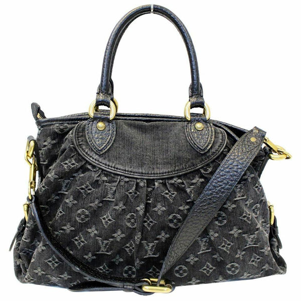 Louis Vuitton Neo Cabby Gm Black Monogram Mini Lin Canvas Shoulder Bag