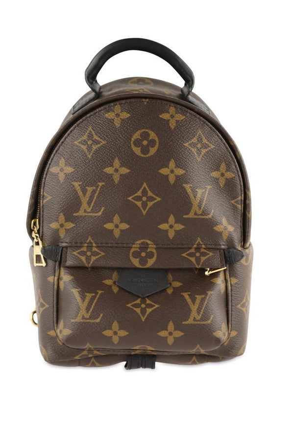 Louis Vuitton Palm Springs Monogram Mini Brown Coated Canvas Backpack