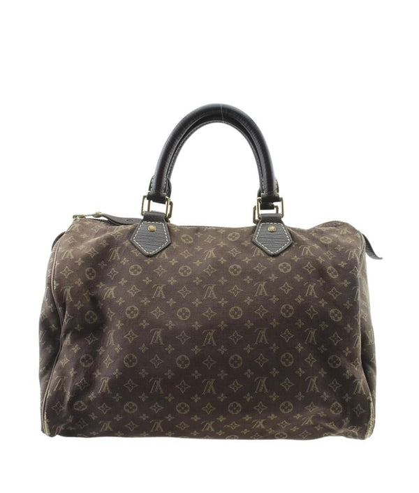 Louis Vuitton Speedy Mini Lin 30 Brown Canvas Satchel
