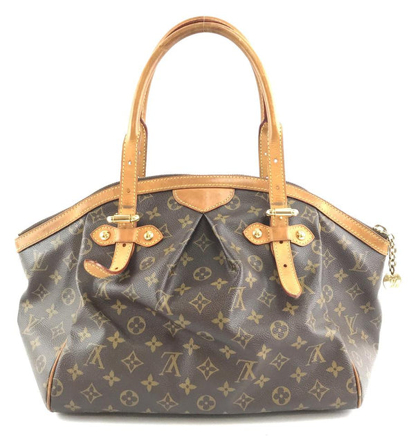 Louis Vuitton Tivoli Gm Zip Zipper Top Hand Tote Brown Monogram Canvas Satchel