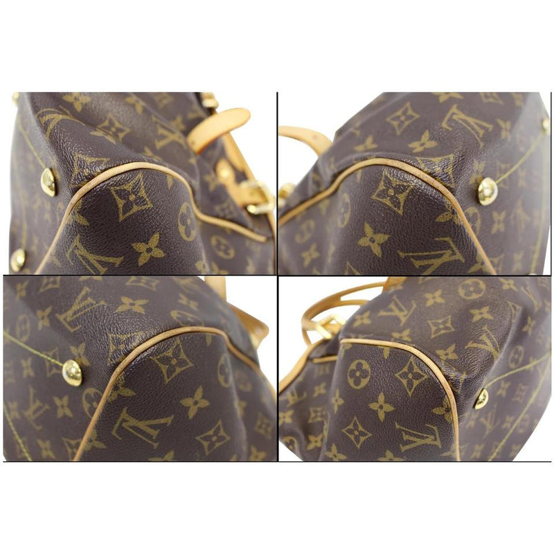 Louis Vuitton Tivoli Gm Brown Monogram Canvas Shoulder Bag