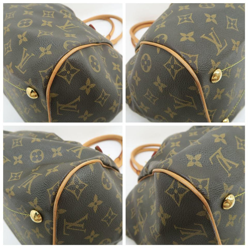 Louis Vuitton Tivoli Gm Brown Monogram Canvas and Calf Leather Shoulder Bag