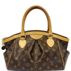 Louis Vuitton Tivoli Pm Shoulder Handbag Brown Monogram Canvas Tote