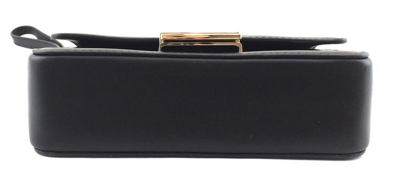 Michael Kors Clutch Madelyn Large Convertible Black Canvas and Leather Wristlet