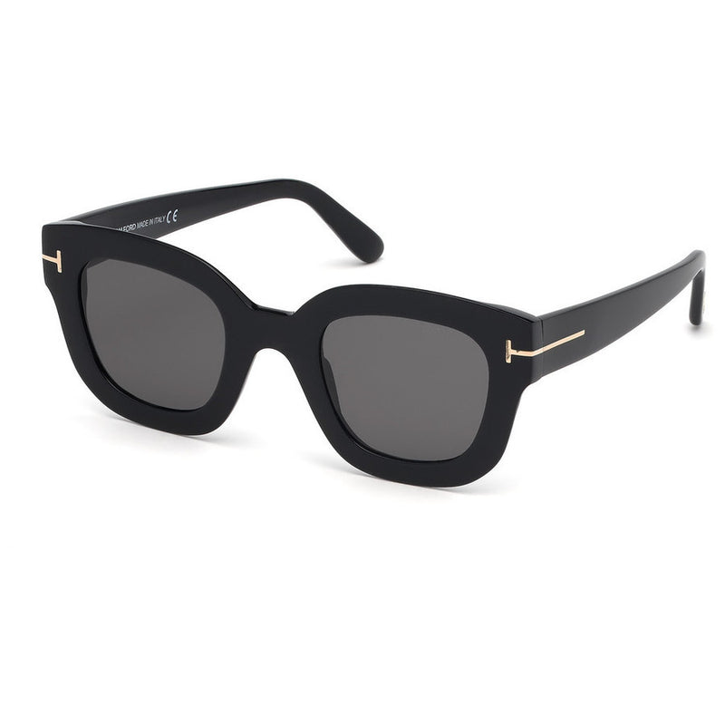 Tom Ford Square Ladies Sunglasses FT0659 01A 48 FT0659 01A 48