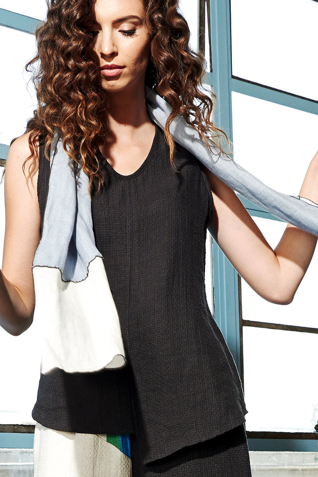 Asymmetric Tank Top Slate