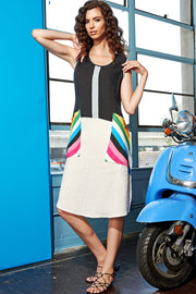 Rainbow Patch Pocket Dress