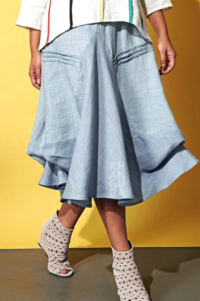 Waterfall Circle Skirt Dove