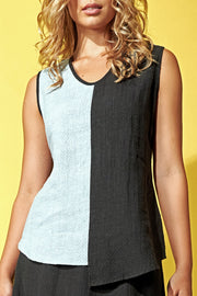 Asymmetric Tank Top Slate-Dove