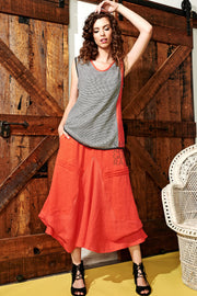 Cascade Circle Skirt Poppy