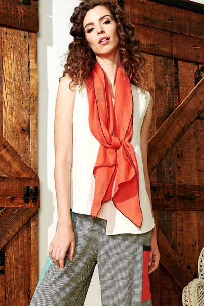 Diamond Scarf Poppy-Slate
