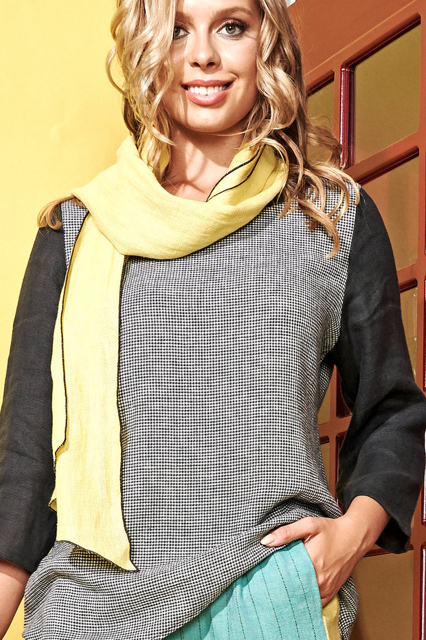 Diamond Scarf Canary-Slate