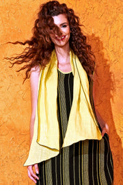 Diamond Scarf -- Canary-Slate