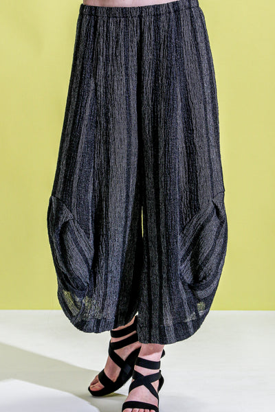 Khangura High-Quality linen black pants. Baggy Style Comfy Pants USA-Made. Sophisticated Elegant One of A Kind Funky Pants.